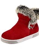 abordables Tops de Mujeres-Chica Zapatos Cuero / Piel Invierno Confort / Botas de nieve / Botas de Moda Botas Paseo Hebilla para Negro / Gris / Rojo
