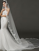 cheap Wedding Gifts-One-tier Wedding Veil Chapel Veils With Tulle Wedding Accessories