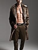 tanie Męskie kurtki i płaszcze-Futro Długi Rozmiar plus Męskie Elegant & Luxurious Inny Trykot / Długi rękaw