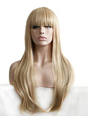 cheap Women's Nightwear-natural wigs for women long wave blonde with bangs cosplay wigs