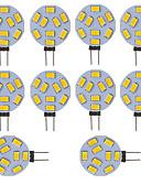 お買い得  レディーストップス-10個 300lm G4 LED2本ピン電球 チューブ 9 LEDビーズ SMD 5730 クールホワイト 12V