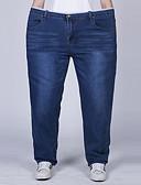 זול טישרטים לגופיות לגברים-בגדי ריקוד גברים מידות גדולות כותנה ג'ינסים מכנסיים אחיד