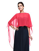 cheap Mother of the Bride Dresses-Chiffon Wedding / Party Evening Women's Wrap With Capes