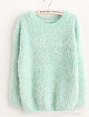 cheap Women's Sweaters-Women's Cute Long Sleeves Loose Pullover - Solid Colored, Ruched
