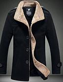 olcso Férfi dzsekik és kabátok-Üzlet Állógallér Férfi Dzsekik - Egyszínű