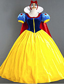 hesapli Gelin Şalları-Prenses / Peri Masalı / Bajka / Kar Cosplay Kostümleri / Parti Kostümleri Kadın's Cadılar Bayramı / Karnaval Festival / Tatil Cadılar Bayramı Kostümleri Mavi+Sarı Kırk Yama / Fiyonk Düğüm / Şifon
