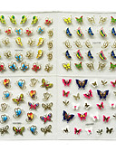 baratos Cachecóis da Moda-24 pcs Autocolantes de Unhas 3D arte de unha Manicure e pedicure Fashion Diário / Etiquetas de unhas 3D