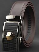cheap Men's Belt-Men's Luxury Work Casual Leather Alloy Waist Belt - Solid Colored Stylish