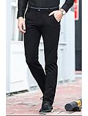 זול מכנסיים ושורטים לגברים-בגדי ריקוד גברים כותנה רזה ישר מכנסיים אחיד / עבודה