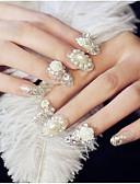 billige Kjoler-24 pcs Nail Smykker Glitters / Mote Daglig Nail Art Design