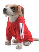 billige Skjørt-Hund Hettegensere / Kjeledresser Hundeklær Ensfarget Rød / Blå / Rosa Bomull Kostume For kjæledyr Herre / Dame Hold Varm / Sport