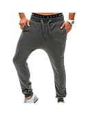 abordables Pantalones y Shorts de Hombre-Hombre Activo Algodón Corte Ancho Corte Ancho Activo Pantalones de Deporte Chinos Pantalones - Un Color, Estilo moderno
