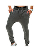 billige Herrebukser og -shorts-Herre Aktiv Bomull Løstsittende Løstsittende Aktiv Joggebukser Chinos Bukser - Moderne Stil, Ensfarget