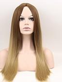 halpa Naisten yläosat-Synteettiset peruukit Suora Synteettiset hiukset Ruskea Peruukki Naisten Pitkä / Hyvin pitkä Suojuksettomat