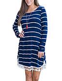 رخيصةأون فساتين للنساء-فستان نسائي ثوب ضيق طول الركبة مخطط