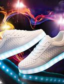 hesapli Çiçekçi Kız Elbiseleri-Unisex Ayakkabı Tüylü Bahar / Sonbahar Rahat Spor Ayakkabısı Düşük Topuk Yuvarlak Uçlu Atletik / Dış mekan için Bağcıklı / Cırtcırt / LED Beyaz / Siyah