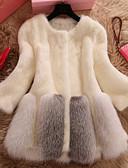 cheap Women's Blazers & Jackets-Women's Daily Casual Fur Coat