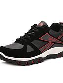 hesapli Külotlar-Erkek Ayakkabı PU Bahar Sonbahar Rahat Atletik Ayakkabılar Dağ Yürüyüşü Dış mekan için Bağcıklı Sarı Siyah/Kırmızı Siyah/Mavi