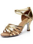 preiswerte Korsetts & Bustiers-Damen Schuhe für den lateinamerikanischen Tanz / Salsa Tanzschuhe Satin Sandalen Schnalle Maßgefertigter Absatz Maßfertigung Tanzschuhe
