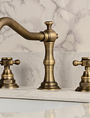 cheap Men's Shirts-Bathroom Sink Faucet - Widespread Antique Copper Widespread Two Handles Three Holes