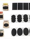 cheap Panties-36Pcs Chalk Pen Chalkboard Sticker Labels Vinyl Kitchen Jar Decor Decals 5CM X 3.5CM