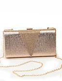 preiswerte Damen Leggings-Damen Taschen PU Abendtasche Crystal / Strass Künstlerisch gestaltet Schwarz / Silber / Rosa