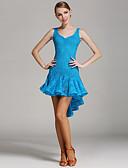 preiswerte Tanzkleidung für Balltänze-Latein-Tanz Kleider Damen Training / Leistung Spitze Drapiert / Spitze Ärmellos Normal Kleid / Latintanz