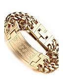 cheap Men's Shirts-Men's Chain Bracelet - Stainless Steel Infinity Bohemian, European, Fashion Bracelet Gold / Silver For Wedding Party Anniversary