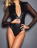 baratos Corpos Sexy-Mulheres Super Sexy Super Sensual Roupa de Noite - Com Transparência Sólido