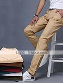 זול מכנסיים ושורטים לגברים-בגדי ריקוד גברים כותנה רזה חליפות / צ'ינו מכנסיים - אחיד חאקי / אביב / סתיו / סוף שבוע