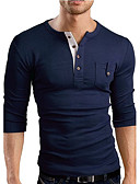 cheap Men's Tees & Tank Tops-Men's Sports Cotton Slim T-shirt - Solid Colored V Neck