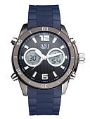 voordelige Herenhorloges-ASJ Heren Digitaal horloge Japans Kalender / Waterbestendig / Cool Silicone Band Luxe / Informeel / Modieus Zwart / Blauw
