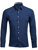 cheap Men's Shirts-Men's Cotton Shirt - Solid Colored