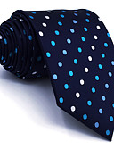 cheap Men's Ties & Bow Ties-Men's Cute Party Work Rayon Necktie - Polka Dot Color Block Jacquard Basic