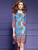 levne Dámské šaty-Dámské Větší velikosti Volné Šaty Tisk