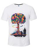 abordables Camisetas y Tops de Hombre-Hombre Activo Deportes Estampado - Camiseta, Escote Redondo