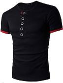 povoljno Muške majice i potkošulje-Majica s rukavima Muškarci Dnevno Sport Pamuk Jednobojni Color block Okrugli izrez Print