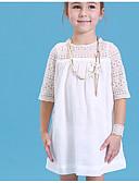 זול שמלות לבנות-שמלה חצי שרוול אחיד בנות ילדים