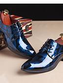 abordables Robes de Demoiselles d'Honneur-Homme Impression Oxfords Cuir Verni Printemps / Automne Oxfords Rouge / Bleu / Brun claire / Soirée & Evénement
