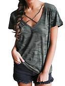 tanie Sukienki-T-shirt Bawełna W serek Luźna - Kamuflaż / Lato / Wiązanie