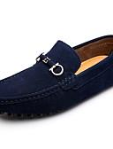 abordables Tops de Mujeres-Hombre Zapatos de conducción Ante Primavera / Otoño Confort Zapatos de taco bajo y Slip-On Listo para vestir Negro / Azul Oscuro / Gris