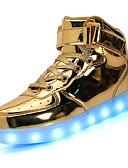 preiswerte Damen Kleider-Unisex Schuhe Kunstleder Frühling / Sommer / Herbst Komfort / Leuchtende Sohlen / Leuchtende LED-Schuhe Sneakers Walking Niedriger Heel
