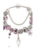 cheap Women's Nightwear-Crystal Charm Bracelet - Crystal Tower, Flower Natural, Fashion Bracelet Blue / Pink For Wedding Party Special Occasion