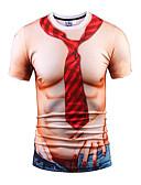 זול תחתוני גברים אקזוטיים-צווארון עגול פאנק & גותיות בוהו Party ספורט מועדונים טישרט - בגדי ריקוד גברים דפוס