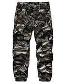 billige Herrebukser og shorts-Herre Aktiv Bomuld Tynd Joggingbukser Bukser camouflage