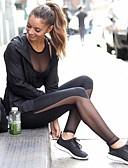 baratos Saias Femininas-Mulheres See Through Calças de Yoga Esportes Sexy, Moderno Grade, Lycra Cintura Alta Calças Pilates, Exercício e Atividade Física, Corrida
