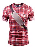 baratos Camisetas & Regatas Masculinas-Homens Camiseta - Festa / Bandagem Boho / Moda de Rua / Punk & Góticas Estampado, Gráfico Decote Redondo / Manga Curta