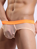 cheap Men's Underwear & Socks-Men's Ultra Sexy Panties Solid Colored Natural
