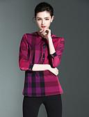 billige Topper til damer-Bomull Skjorte Dame - Multi-farge, Trykt mønster Ut på byen