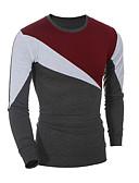 baratos Camisetas & Regatas Masculinas-Homens Camiseta - Esportes Estampado, Sólido Estampa Colorida Algodão Decote Redondo